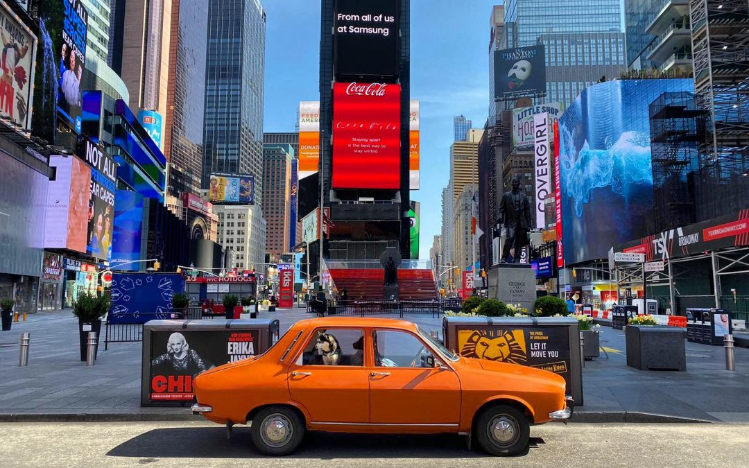 Dacia 1300 on Empty New York Streets